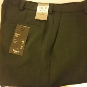 Haggar Classic Slack Size 36x32 Gabardine Charcoal